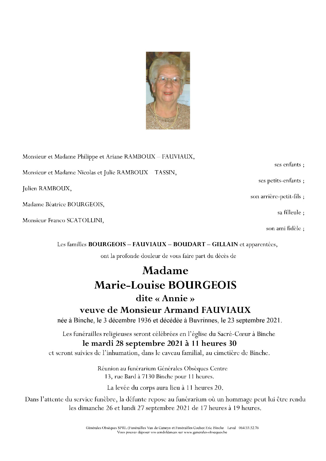 Bourgeois Marie-Louise