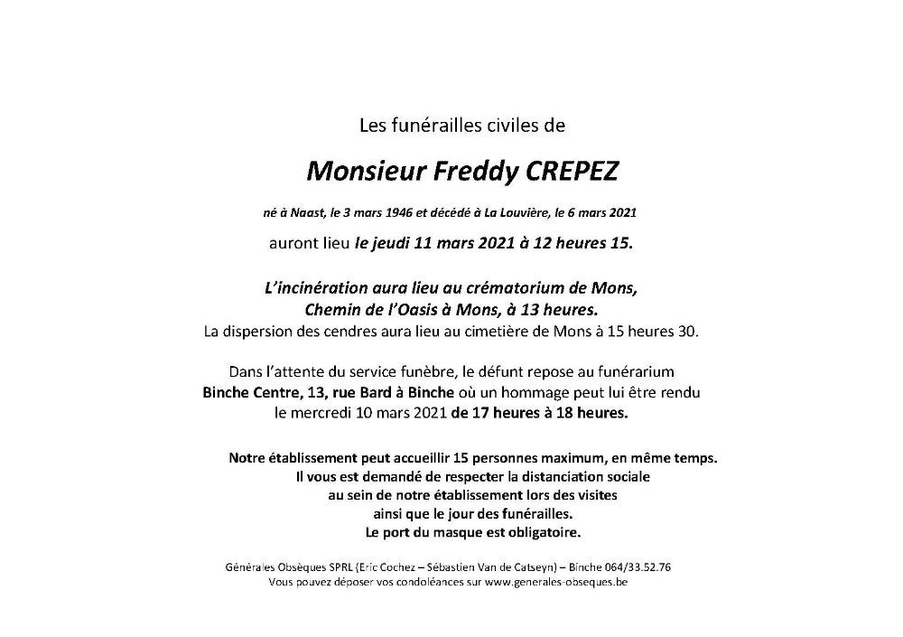 CREPEZ Freddy