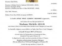 Madame Michèle ADAM
