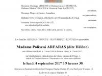 ARFARAS Polixeni (dite Hélène)