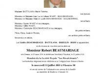 BEAUMARIAGE Robert