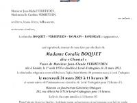 Boquet Coralie, dite