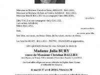 BURY Julia