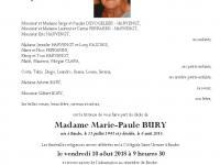 Bury Marie Paule