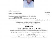 De Backer Jean-Claude
