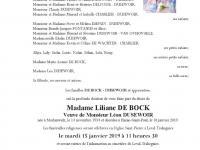 DE BOCK Liliane