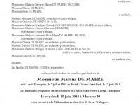 DE MAERE Marius