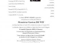 DE WIT Gaston