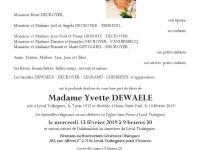 Dewaele Yvette