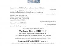 DHEULIN Gisèle