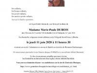 Dubois Marie Paule