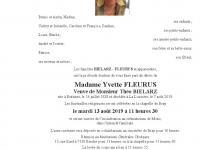 FLEURUS  Yvette