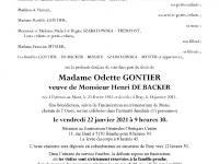 GONTIER Odette