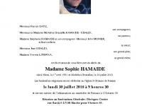 HAMAIDE Sophie
