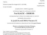 KACIC-DUBOIS Noé