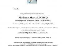 LECOCQ Maria