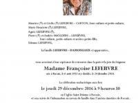 LEFEBVRE Françoise