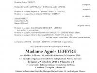 LEFEVRE Agnès