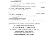 LEMERCINIER Colette