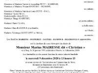 MAIRESSE Marius dit