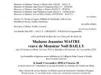 MAITRE Jeannine