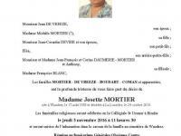 Madame Josette Mortier