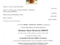 PIRSON Marie Henriette