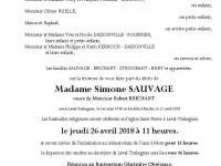 SAUVAGE Simone
