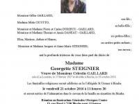 Madame Georgette STEIGNIER
