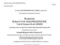 Van Nieuwenhuysse Robert
