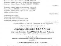 Van snick Blanche