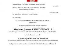 VANCOPPENOLLE Josette