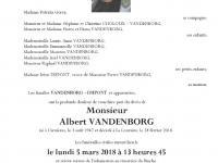 VANDENBORG Albert