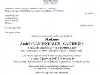 VANDENHAUTE - CATHERINE  Andrée