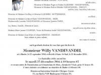 Monsieur Willy VANDEVANDEL