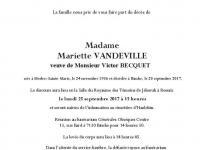 VANDEVILLE Mariette