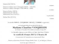Vanquelefs Claudine