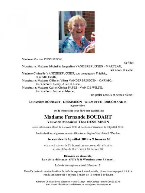 BOUDART Fernande
