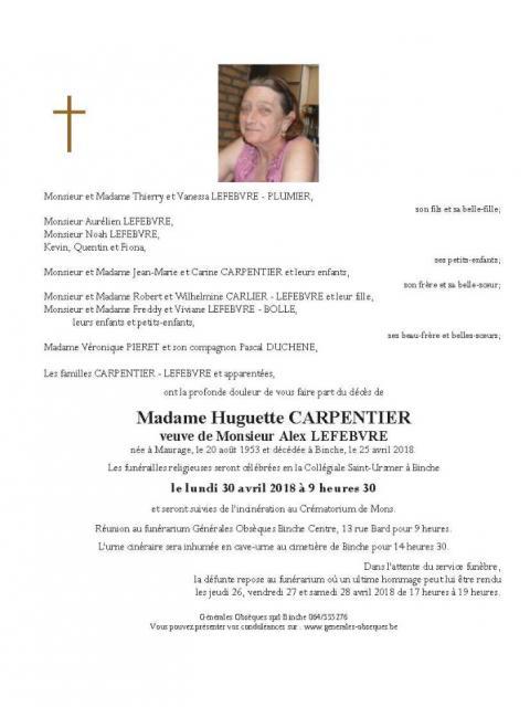 Carpentier Huguette