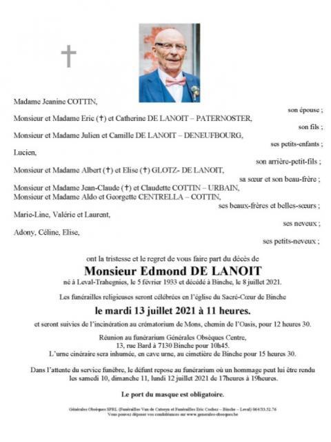 DE LANOIT Edmond