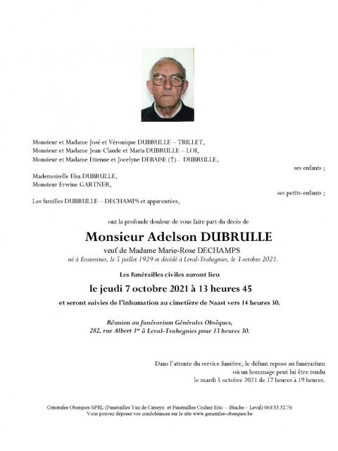 DUBRULLE Adelson