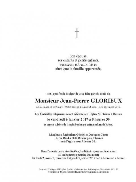 GLORIEUX Jean-Pierre