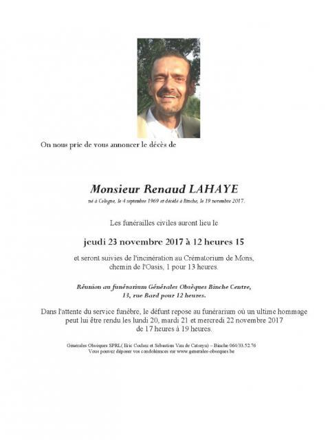 Lahaye Renaud