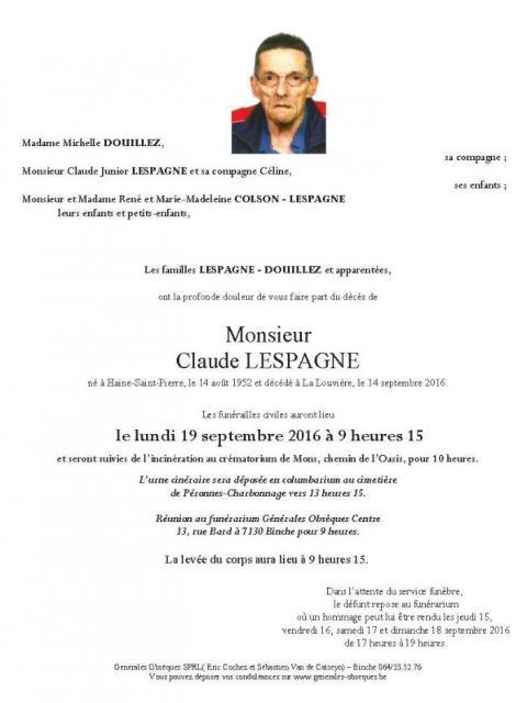 Lespagne Claude