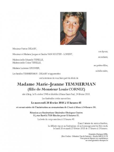 Temmerman Marie-Jeanne