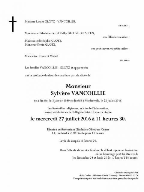 VANCOILLIE Sylvère