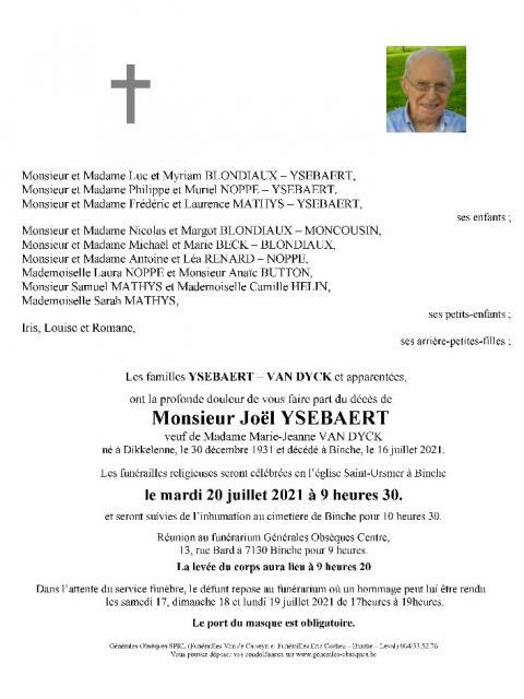 YSEBAERT Joël