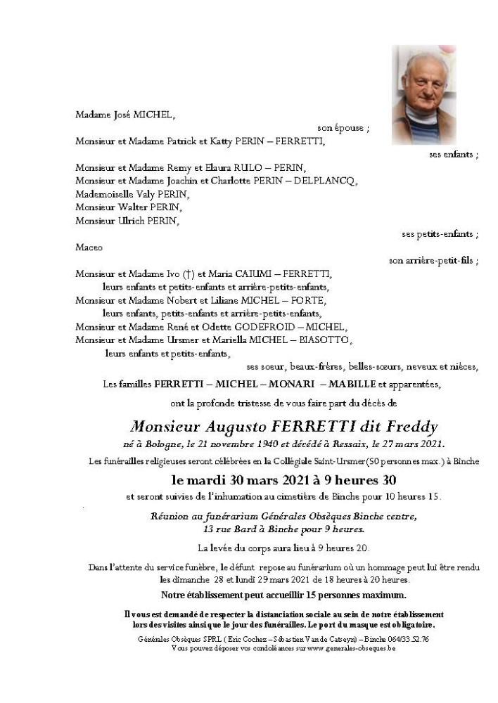 Ferretti Augusto dit Freddy