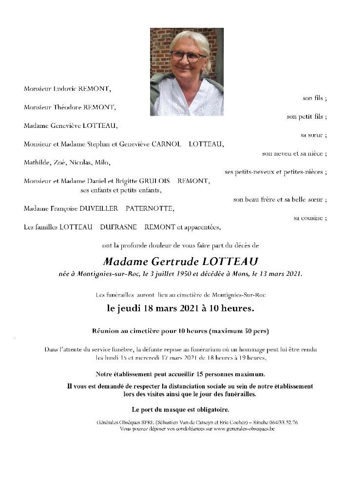 Lotteau Gertrude